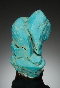 Turquoise pseudomorph after Apatite - Nevada