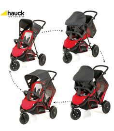 Hauck Freerider Shop 'n Drive Red from Kiddicare Travel Systems Double Strollers, Baby Strollers, Baby Shop Online, Baby Lotion, Travel System, Prams, Having A Baby, Kids House, Baby Gear