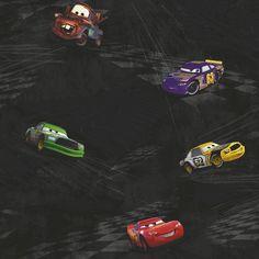 Room Mates Room Mates Deco Cars Racing x Scenic Wallpaper Color: Black