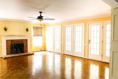The Best Trick for Painting French Doors - Bless'er House Cheap Curtains, Long Curtains, Green Curtains, Curtains Living, Colorful Curtains, Diy Curtains, Hanging Curtains, Nursery Curtains, Roman Curtains