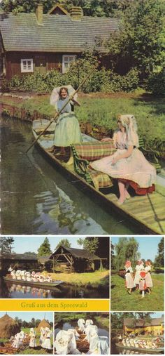 8 Vintage Costume Postcards  Spreewald  Germany  by P8iosities, €5.50
