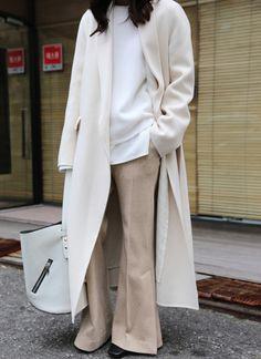 Beige + ivory cashmere