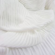 3 Meters 150CM 59 Wide off white Ruffled Pleated Chiffon