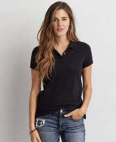 0d665d7b Shop the latest styles of T Shirts for Women at American Eagle. Our polo, short  sleeve and long sleeve t shirts are comfortable, trendy, and a must-have  for ...