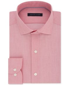 3422e97e6b149f Tommy Hilfiger Men s Classic Regular Fit Non-Iron Performance Stretch Solid Dress  Shirt -