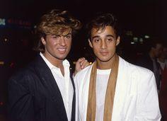 """IlPost - George Michael e Andrew Ridgeley dei Wham! alla prima del film """"Dune"""" (Hulton Archive/Getty Images)"""