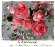 Sunday Scripture ~ Psalm 27:14
