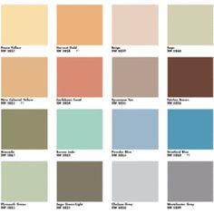 Mid-Century living room palette