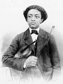 A sketch of Solomon Northup with his violin when he was a bit younger.