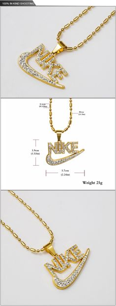 New Arrival 18K Gold Plated Jewelry Hip Hop Fashionable Crystal Letters Jewelry Long Pendant Chain