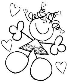 Pinto Dibujos: Dibujos para colorear de los fulanitos Bear Coloring Pages, Star Painting, School Decorations, Stick Figures, Teaching Kindergarten, Orient, Classroom Decor, Rock Art, Art School