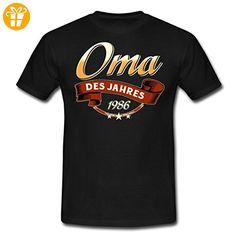 Oma Des Jahres Jahrgang 1986 RAHMENLOS Geschenk Männer T-Shirt von Spreadshirt®, 4XL, Schwarz - Shirts zum 30 geburtstag (*Partner-Link)