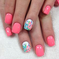 Nail art is a very popular trend these days and every woman you meet seems to have beautiful nails. It used to be that women would just go get a manicure or pedicure to get their nails trimmed and shaped with just a few coats of plain nail polish. Nail Designs Spring, Nail Art Designs, Beachy Nail Designs, Hawaiian Nails, Beach Nails, Beach Vacation Nails, Summer Holiday Nails, Nagel Gel, Nail Decorations