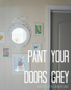Painted interior doors Sherwin Williams - porpoise. Love it ...