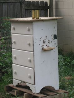 Old Dresser turned into a new Bee Hive