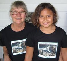10 Year Old Ainsley uses @SeaWeb_org's Marine Photobank to raise awareness about #shark finning.