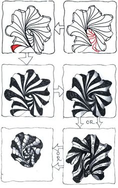Zentangle.com.  #2.   A new zentangle design from Rick and Maria, Aquafleur, inspired from their visit to Bermuda.