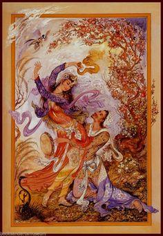 Mahmoud Farshchian Spring Spells Art Print