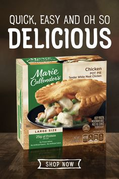 Marie Callender's Chicken Pot Pies are simple to make and tasty to eat. Tap the pin to browse more delicious pot pies.