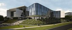 South African office building was designed to keep its occupants healthy Office Building Architecture, Green Architecture, Building Exterior, Architecture Photo, Waste Management Plan, Landscape Elements, Public Seating, Atrium, Exterior Design