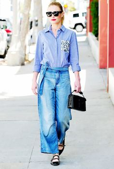 Kate Bosworth's style perfectly mimics the casual cool vibes of her West Coast surroundings—think easy denim, breezy frocks, and killer ankle booties—balanced by a healthy dose of sophistication.