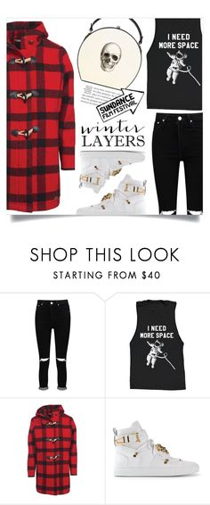 """""""Sundance festival"""" by dolly-valkyrie ❤ liked on Polyvore featuring Boohoo, Woolrich, Versace, Bertoni and sundance"""