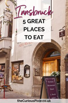 The restaurants in Innsbruck Austria did NOT disappoint. here is a list of my 5 best restaurants in Innsbrooke Austria. Insbruck Austria, Austria Food, Austria Travel, Austria Tourism, Best Places To Eat, Great Places, Vacation Ideas, Zell Am See, Germany