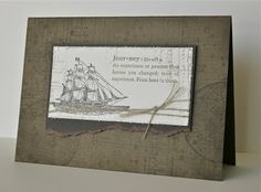 Shelley's Stamping Ground Stamps: The Open Sea (Summer Mini Catalogue), Life Definitions, French Foliage Card: Soft Suede, Early Espresso, Very Vanilla Ink: Soft Suede, Early Espresso Other: Linen Thread