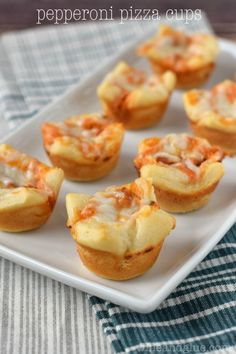 Pepperoni Pizza Cups   Easy little finger food that is SUPER delicious!