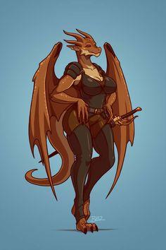 Galla Destin by Blazbaros on DeviantArt Female Monster, Fantasy Monster, Yiff Furry, Anime Furry, Dnd Characters, Fantasy Characters, Fantasy Character Design, Character Art, Anthro Dragon