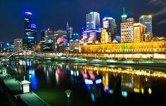 Melbourne, Australia by night #australia #landscape
