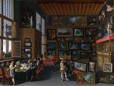 Cognoscenti in a Room hung with Pictures(1620), autor flamenco desconocido. Matemolivares