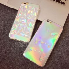 3D Diamond Laser Melting Rainbow Color For iphone 5 6 7 Case   Hologram Iridescent Triangle Pastel Phone Cases For iPhone5 6 6S 6plus 7