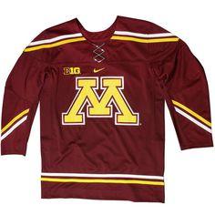Minnesota Golden Gophers Twill Hockey Jersey – Maroon - $124.99