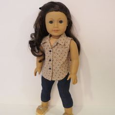 American Girl Doll Clothes  2 Pc. Sleeveless by AmericAnnMade, $15.00