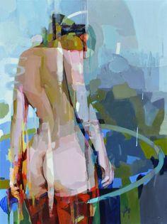"""Saatchi Art Artist Melinda Matyas; Painting, """"Untitled Nude"""" #art"""