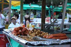 Fritangas Colombian street food