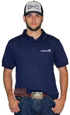 Camiseta polo Masculina Cinch Azul Marinho Camiseta polo masculina  importada da marca Cinch. Possui tecido e50d82350520a