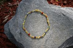 Rainbow Hug Teething Necklace, Baltic Amber - Raw Unpolished - Any Size Necklace, Bracelet, Anklet, or Bellychain - Adult or Child Amber Teething, Teething Necklace, Baltic Amber, Hug, Beaded Necklace, Rainbow, Trending Outfits, Unique Jewelry, Handmade Gifts