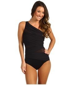 Miraclesuit  Jena Slimming One-Piece Swimsuit  This is the same as the purple one.  I love the Purple one the most, but this Black is more slimming
