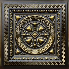 220 Drop In Ceiling Tile - Antique Brass by Decorative Ceiling Tiles Inc.. $9.99. PVC 24x24 Tin Look & No Metal Echo! Easy Drop In Installation Cuts With Scissors Affordable Will Not Rust Light Weight Delivery Time (3-14 business days) Installation Information