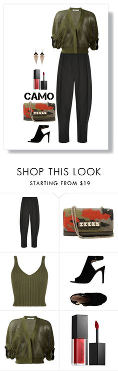 """""""Gear"""" by patricia-dimmick ❤ liked on Polyvore featuring Vivienne Westwood Anglomania, Valentino, WearAll, Tory Burch, Givenchy, Smashbox, valentino, bags and camostyle"""