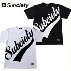 SUBCIETY サブサエティ 半袖 Tシャツ LARGE GLORIOUS S/S ビックグロリアスロゴ 半袖Tシャツ