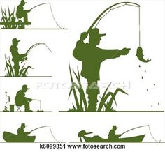 Clipart - silhouette of fisherman. Fotosearch - Search Clip Art, Illustration Murals, Drawings and Vector EPS Graphics Images