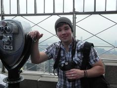 """May 16, 2012: Nathan Kress, aka iCarly actor """"Freddie Benson,"""" stopped by the 86th floor Observatory today to take in the sights, as well as some photos."""