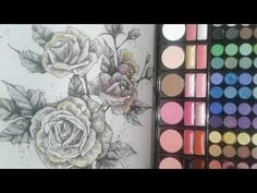 How to Color Using Eyeshadow on Coloring Books - YouTube