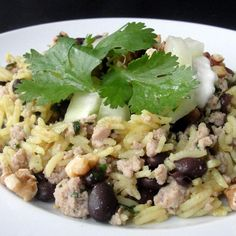 """Middle Eastern Rice with Black Beans and Chickpeas 