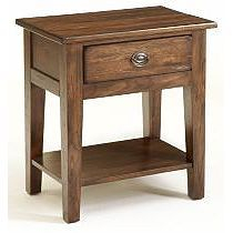 Give your bedside a traditional touch with the Broyhill Attic Heirlooms 1 Drawer Nightstand . The country styled nightstand showcases a natural oak stain,. Broyhill Furniture, Crate Furniture, Solid Wood Furniture, Furniture Design, Blue Nightstands, Rustic Nightstand, Cheap Bedroom Furniture, End Tables With Drawers, Oak Stain