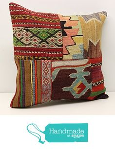 Patchwork kilim pillow cover 18x18 inch (45x45 cm) Decorative Kilim pillow cover Sofa Decor Accent Pillowcases Bohemian Pillow Cover Cushion Cover https://www.amazon.com/dp/B01MSTXMUH/ref=hnd_sw_r_pi_dp_oDcqybYX8G9K9 #handmadeatamazon