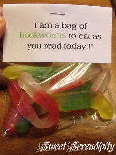 cute snack idea for a special reading celebration!!